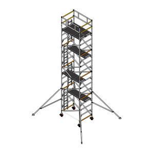 INSTANT/英司腾 脚手架 SPAN500W-DW双宽-8米 顶层平台高度10m 平台尺寸2×1.35m 额定载重900kg 1套