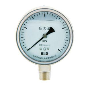 BLD/布莱迪 氧气压力表 YTH-100.AO.531.M140.氧气 径向 0~1.6MPa/0~16bar G1/4 表盘100mm 不抗震不包边 1个