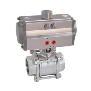 "IDEAL/埃帝尔 CF8气动三片式对焊球阀 DR00015-Q611F-40P 1"" 公称压力PN40 1台"