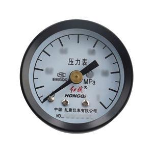 HONGQI/红旗 铁壳压力表 Y-40Z 1.6MPa 轴向 M10×1 不支持第三方检定 1个