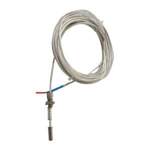 SZY/上自仪 热电阻 WZPM-201 φ6mm 外接引线长2m Pt100 -100~100℃ M8×0.75螺纹安装 1个