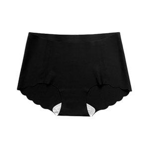 QINGHUA/轻画 无痕抗菌护理女士内裤 664 XL 性感黑 1条