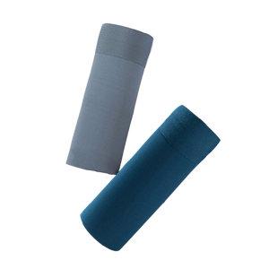 QINGHUA/轻画 云感无痕飘飞男士内裤 ZH052 3XL 雾蓝色/墨绿色 2条 1组