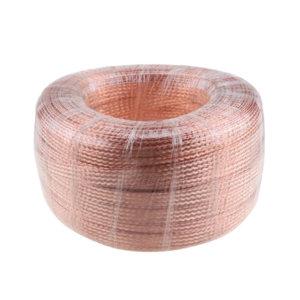 BRIDGOLD/金桥铜业 裸铜编织线 4mm² 压扁直径8mm 1卷