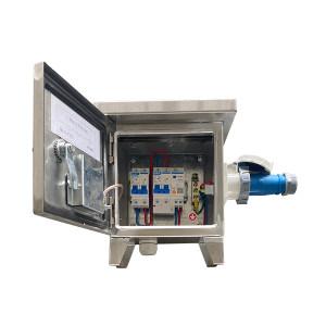 CZYINL E/引领电气 核电定制220V移动配电箱 240*220*130 带220V插座  断路器品牌正泰 不锈钢304 1.4mm厚 1个