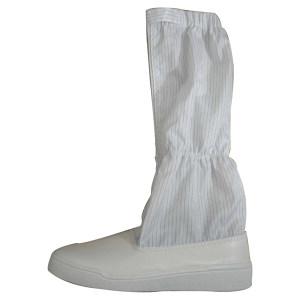 LINGTECH/凌致 PVC防静电长筒靴 LZ02023 37码 白色 防砸 1双