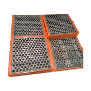 YX/亿星网业 聚氨酯包边不锈钢冲孔筛板(左右挡水) AHYX-01 610×610×46-25mm钢板厚度10 1块