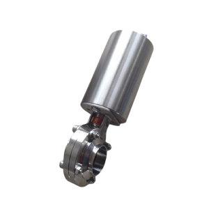 DONJOY/东正 气动蝶阀(焊接式) 立式气动 单作用 38.1×1.5 EPDM密封 304不锈钢 公称压力PN16 1个