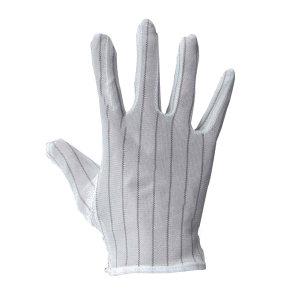 LINGTECH/凌致 点塑防静电止滑手套 LZ03003 M 白色条纹 1包