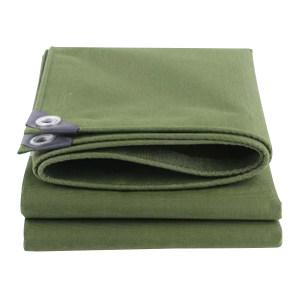 XIANGCHEN/襄辰 帆布防雨布 10×10m 绿色 1卷