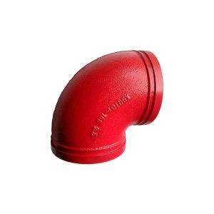 HETE/和特 90°沟槽弯头 140 140mm 球墨铸铁 红色 1套
