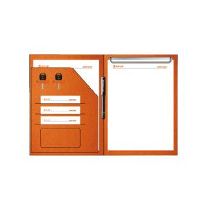 WENQIKU/文器库 塘鹅定制销讲夹 人造革材质,活页夹固定,压 凹效果,封面丝印+压 印,不含笔 335×245mm 1个