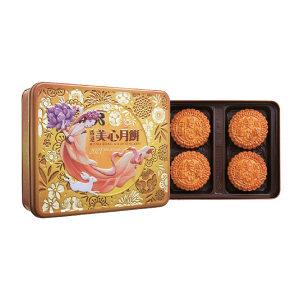 MEIXIN/美心 双黄白莲蓉月饼 4892030000749 740g 1盒
