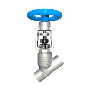 """W&T/维替 高压Y型截止阀 SCKYD3"""" 对焊式 手轮驱动 压力值900LB 材质F92锻造 温度≤620℃ 对应电厂材质P92 1个"""