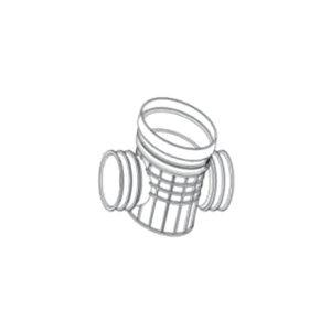 ZHONGCAI PIPES/中财管道 塑料直通检查井 OD450 接DN300管道 DN300 PVC 1个