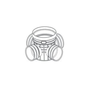 ZHONGCAI PIPES/中财管道 塑料四通检查井 OD450 接DN300管道 DN300 PVC 1个