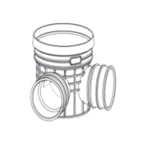 ZHONGCAI PIPES/中财管道 塑料90°检查井 OD450 接DN300管道 DN300 PVC 1个