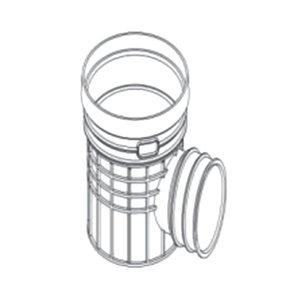 ZHONGCAI PIPES/中财管道 塑料单通检查井 OD450 接DN300管道 DN300 PVC 1个