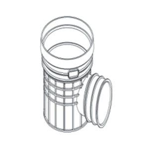 ZHONGCAI PIPES/中财管道 塑料单通检查井 OD450 接DN200管道 DN200 PVC 1个