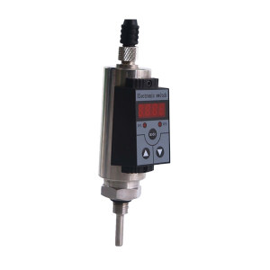 XYT/兴宇腾 温度开关 QTK103 φ10mm 壳体压铸铝 芯体PT100传感器 量程-50~200℃ 螺纹规格G1/2 PNP输出 赫斯曼电气接头 LED显示 插深10mm 1个