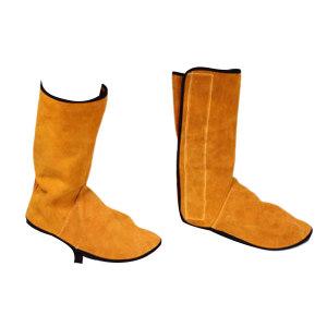 SHIFENG/世峰 牛皮焊工护脚护腿套 L-038 长33cm(±1cm) 1对