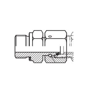 HOOG/霍格流体 压力表转接头 EGE-S14M20×1.5WD 碳钢 1个