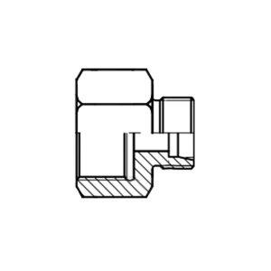 HOOG/霍格流体 压力表转接头 GAI-S14G1/2 碳钢 1个