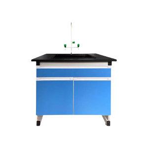 XINKD/鑫科达 水槽台 900×750×800mm 钢木材质 12.7mm厚实芯理化板台面 含一套水槽及三口龙头 水槽尺寸550×450×310mm 1组