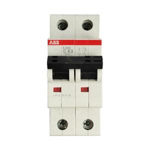 ABB S200系列微型断路器 S202-C63 C脱扣 额定电流63A 1个
