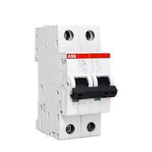 ABB S200系列微型断路器 S202-C25 C脱扣 额定电流25A 1个