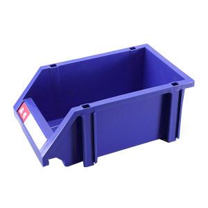 HQ/环球 普通型组立零件盒 TSL3119A 外尺寸310×190×130mm 内尺寸260×160×125mm 蓝色(含1张标签纸 1个透明标签盖 4根立柱) 1个