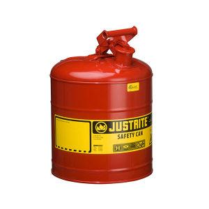 JUSTRITE/杰斯瑞特 Ⅰ类钢制安全罐(悬摆扳柄) 7150100Z 19L 红色 1个