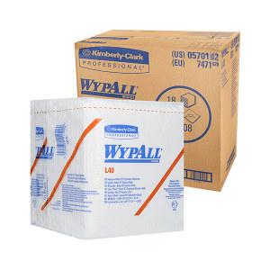 KIMBERLY-CLARK/金佰利 WYPALL*劲拭*L40折叠式工业擦拭纸 05701 白色 31.8*30.5cm DRC技术木浆 1包
