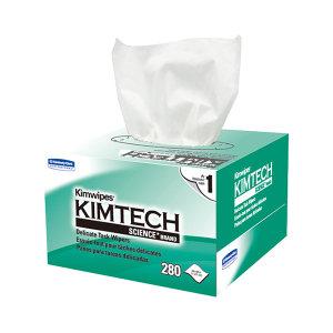 KIMBERLY-CLARK/金佰利 KIMTECH金特低尘擦拭纸 34155 白色 单张尺寸11×21cm 小号 单层 木浆 280张 1盒