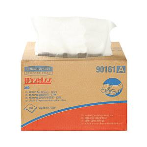 KIMBERLY-CLARK/金佰利 WYPALL*劲拭*X60抽取式全能型擦拭布 90161A(90161) 白色 30.5*42.5cm Hydroknit(木浆+聚丙烯) 1箱