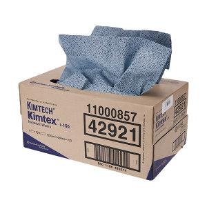 KIMBERLY-CLARK/金佰利 KIMTECH*金特*KIMTEX抽取式强力吸油擦拭布 42921 蓝色 43*35cm 熔喷聚丙烯 1箱