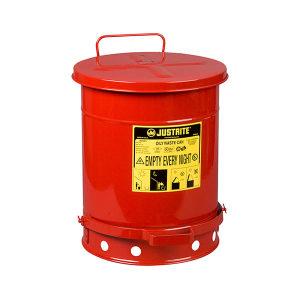 JUSTRITE/杰斯瑞特 油渍废品罐 09300 34L 红色 1个