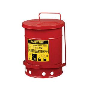 JUSTRITE/杰斯瑞特 油渍废品罐 09100 20L 红色 1个
