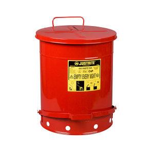 JUSTRITE/杰斯瑞特 油渍废品罐 09500 52L 红色 1个