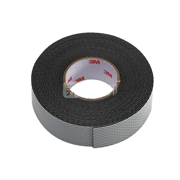 3M 自粘橡胶绝缘胶带-耐高压型 J20 25mm×5m×0.7mm 黑色 橡胶材质 1卷