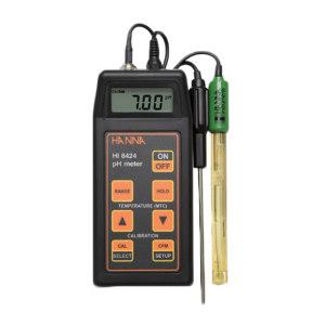 HANNA/哈纳 便携式酸度pH-氧化还原mV-温度测定仪 HI8424 -2.00 to 16.00pH;±699.9 mV/±1999 mV;20.0 to 120.0℃/-4.0 to 248.0°F 1台