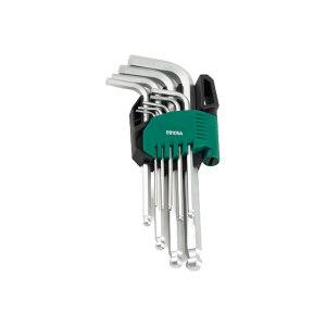 SATA/世达 公制球头内六角扳手组套 SATA-09105A 9件 1.5-10mm铬钒钢(塑架) 1套