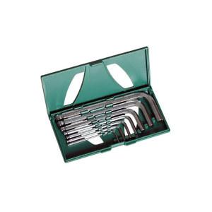 SATA/世达 公制球头内六角扳手组套 SATA-09125 7件 1.5-6mmSVCM+钢(塑盒) 1套