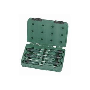SATA/世达 T系列一字、十字橡塑螺丝批组套 SATA-09309 6件(吹塑箱) 1套