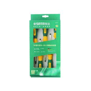 SATA/世达 G系列一字、十字螺丝批组套 SATA-09334 5件 彩盒 1套