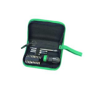 SATA/世达 超短型柄棘轮螺丝批组套 SATA-09342 25件(拉链包) 1套