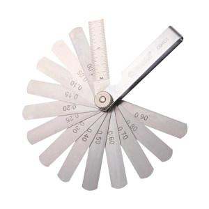 """SATA/世达 公制塞尺 SATA-09401 14片 0.05-1.00mm,尺长3""""/75mm 1套"""