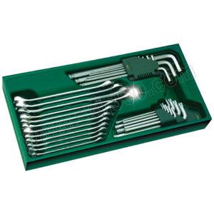 SATA/世达 工具托-两用扳手及内六角扳手组套 SATA-09906 30件 375×185×45mm(塑托盘) 1套