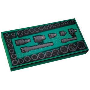 SATA/世达 工具托组套-36件10×12.5MM系列机用套筒 SATA-09914 36件 375×185×45mm 1套