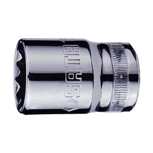 SATA/世达 12.5mm系列公制12角套筒 SATA-13617 30mm 1只
